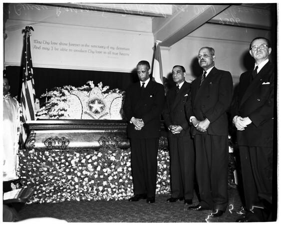 Yoganada funeral, 1952