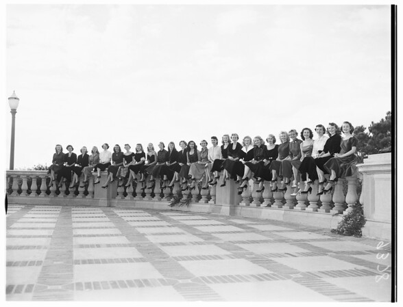Twenty-six University of California Los Angeles coeds who will vie for queen's crown, 1951