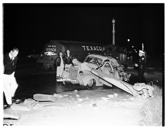 Auto accident ...Long Beach (Wilmington Boulevard), 1952