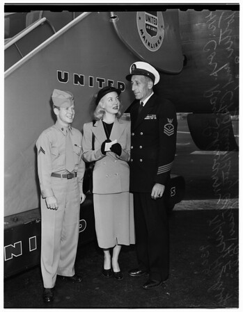 Departure for visit in Japan and Korea, 1951