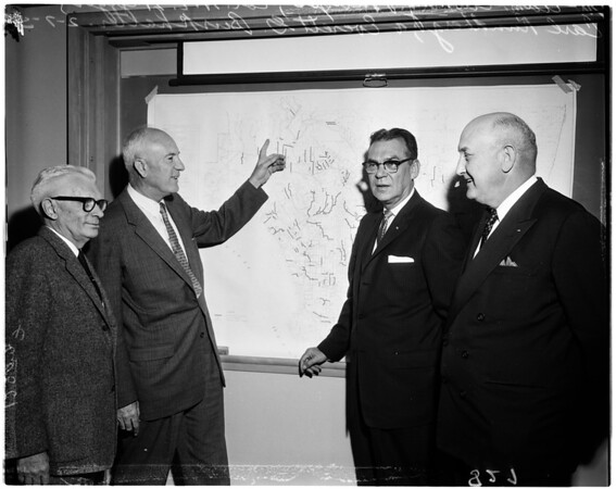Flood control meeting, 1958
