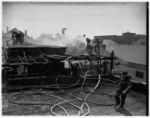 Fire at 625 Stanford Ave., 1951