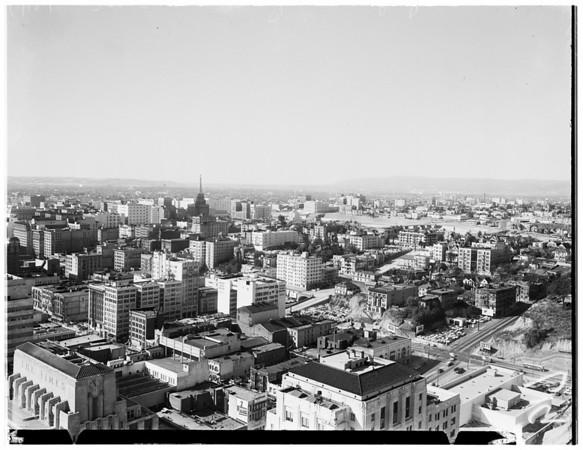 Los Angeles City scenes, 1953