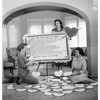 Good samaritan auxiliary woman planning valentine party, 1958