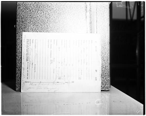 County Coroners investigation, 1958