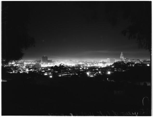 City at night (New Year's), 1951