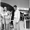 Max Conrad (receives key to city airport), 1951
