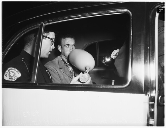 Intoximeter test... for drunk driving, 1951