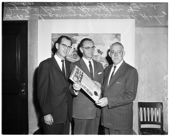 Scroll presentation to Judge Herndon, 1958