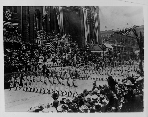 The old American Marching Club of Pasadena, 1901