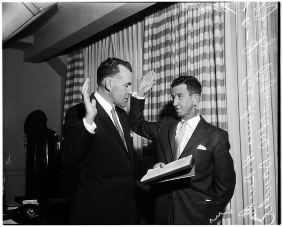 Swearing in Judge, 1958.