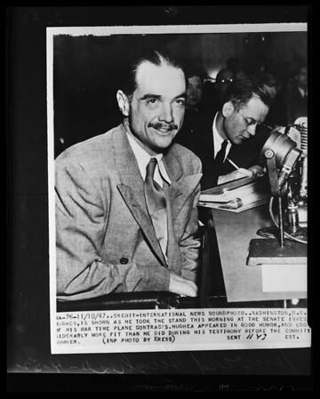"Howard Hughes (copy) for KNBH ""TV"", 1952"