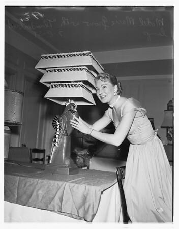 Marie Grow (with thunderbird lamp), 1951