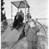 Playground equipment donated by Rotary club of Panorama City, 1958