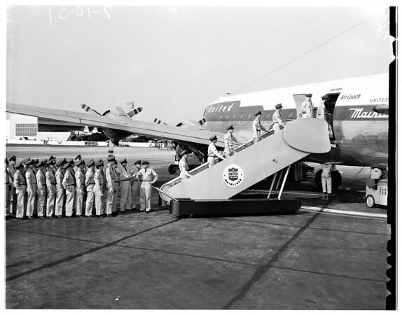 Air corps trainees, 1951