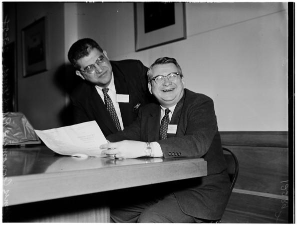 Traffic meeting at USC, 1958