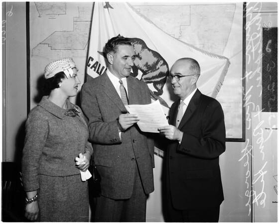 Registrar of voters, 1958.