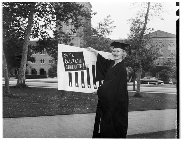 University of Southern California's 60,000th student graduate, 1953