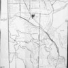 Map of proposed sewer through Santa Monica Mountains, Los Angeles, 1954