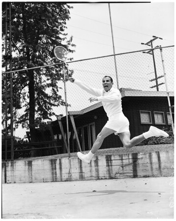 Tennis -- Joe Alstan, ca. 1950