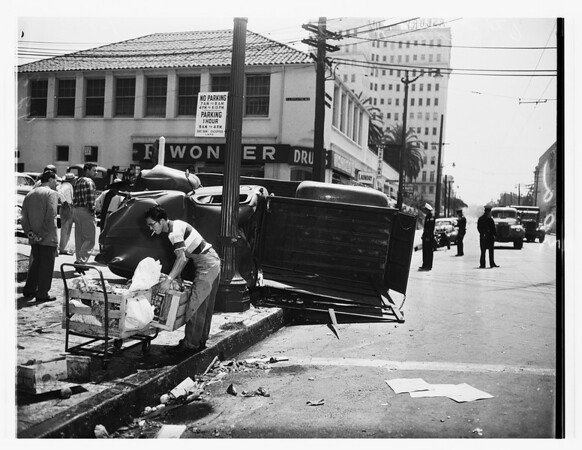 Accidents -- pickup truck collision, 1951