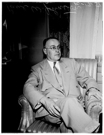 President of Erie Railroad (interview), (Biltmore Hotel), 1951