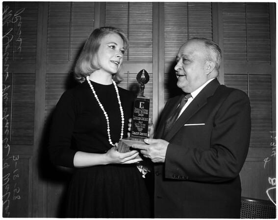 Sound editors award, 1958