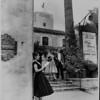 Roma Satterfield and William Francis on Pasadena Playhouse stairs, 1959