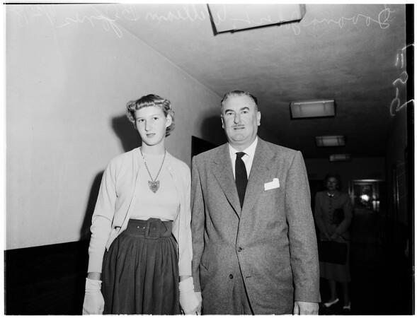 Custody hearing, 1952
