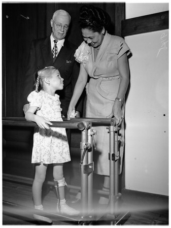 Visits community chest, 1951