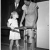 Visits community chest, 1951