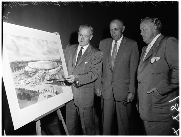 New Sports Arena drawing by architect, 1957
