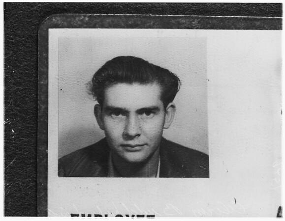 Husband of girl found dead (Oceanside, California), 1951