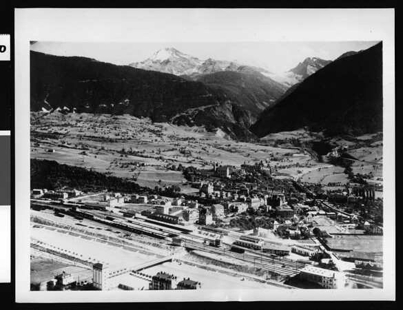 Junction of famed Swiss R.R. lines coveted by Nazis, 1943