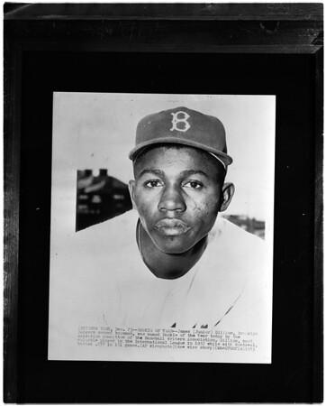 Baseball -- Dodgers, Junior Gilliam (copy), 1958