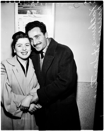 Couple reunited, 1958