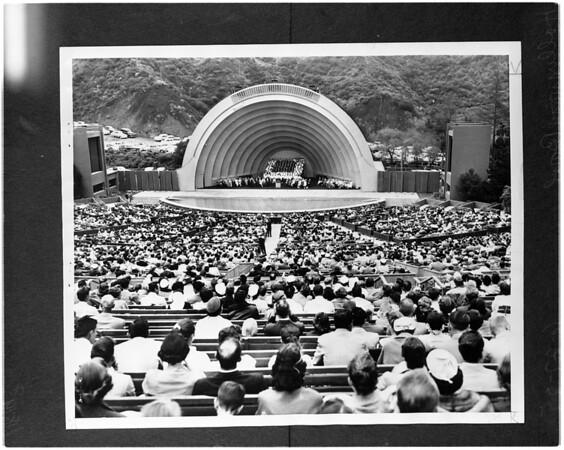 Hollywood Bowl (copy negative), 1956