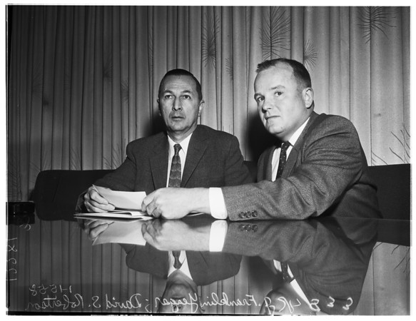 Heart men press conference, 1958