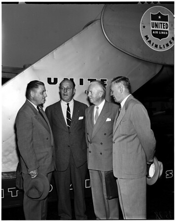 Scout executives fly to meeting, 1952