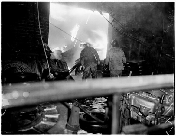 Rubber company fire, 1958.