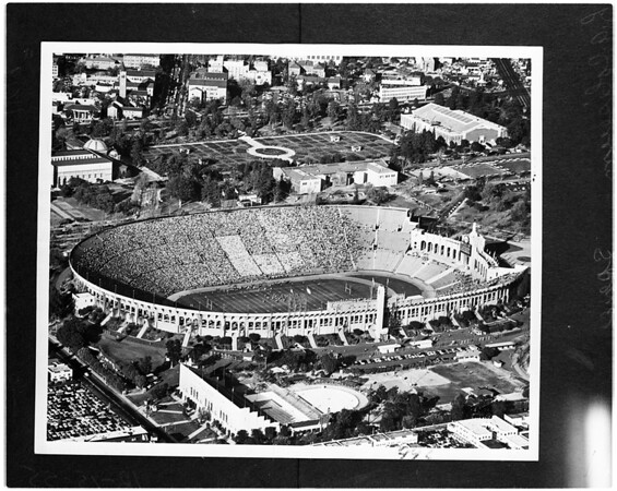 Los Angeles Memorial Coliseum (copy from Spence photo), 1955