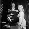 """Miss 8 Ball"" at Governor's office, 1958"