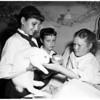 Bluebirds visit hospital, 1958