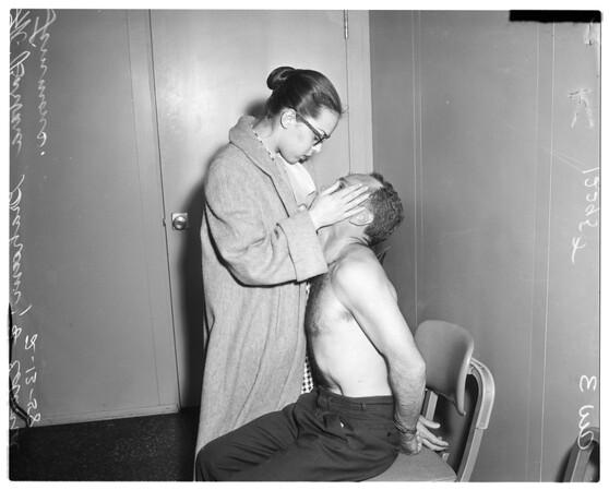 Narcotics raid at 571 South Coronado, 1958.