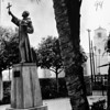 Statue of Junipero Serra in Old Plaza, Los Angeles, 1961