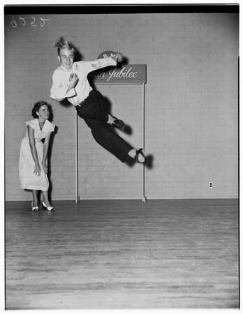 Sarahlie Novino -- 16 years (pianist) and Dick Merbitz -- 15 years (tap dancer), 1951