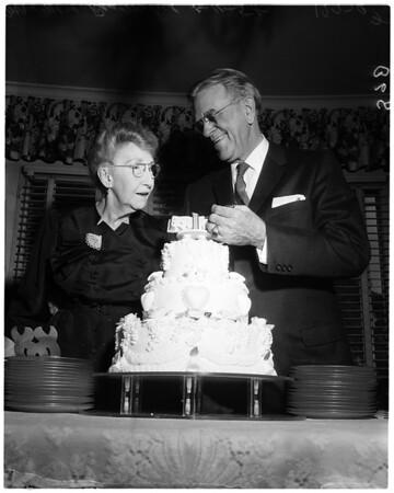 50th wedding anniversary, 1958