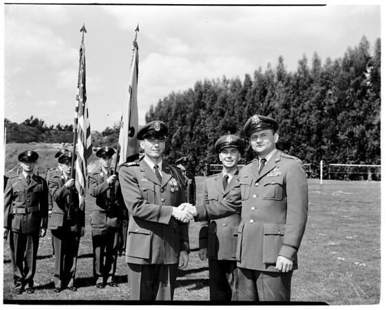 Air Force Reserve Officers Training Corps medal presentation at University of California, Los Angeles, 1952