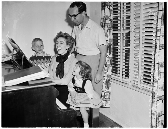 Composer and family, 1958