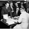 First candidate to file, 1958